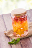 Fresh fruit Flavored infused water mix of starfruit and strawber Royalty Free Stock Images