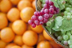 Fresh fruit, grapes Royalty Free Stock Photography