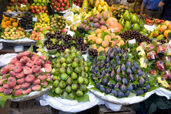 Fresh fruit at the greengrocer Royalty Free Stock Images