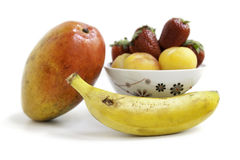 Fresh Fruit Group. Colorful fresh group of fruits for a balanced diet. White background. See my gallery for more fresh fruits and vegetables Stock Photo