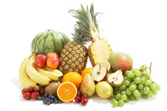 Fresh fruit in a group stock photo