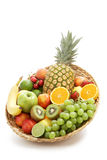 Fresh fruit in a group stock image