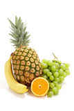 Fresh fruit in a group stock images
