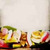 Fresh Fruit Grunge Background stock photos
