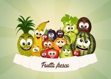 Fresh fruit. Illustration of funny fresh fruit Stock Image
