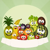 Fresh fruit. Illustration of funny fresh fruit Royalty Free Stock Images