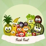 Fresh fruit. Illustration of funny fresh fruit Stock Photo