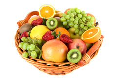 Free Fresh Fruit In The Basket Royalty Free Stock Image - 6498846
