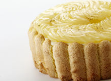 Fresh fruit,JackfruitCloseup delicate pear cake on. Closeup delicate pear cake on white background shot in studio Royalty Free Stock Photo