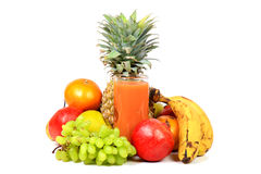 Fresh fruit juice Royalty Free Stock Photos