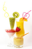 Fresh fruit juice cocktails with vitamin Royalty Free Stock Photo