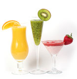 Fresh fruit juice cocktails with vitamin Stock Photography