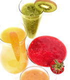 Fresh fruit juice cocktails with vitamin Stock Images