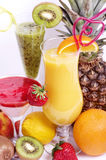 Fresh fruit juice cocktails with vitamin in a glass Stock Image