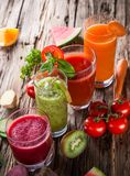 Fresh fruit juice Royalty Free Stock Images