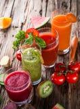 Fresh fruit juice Royalty Free Stock Images