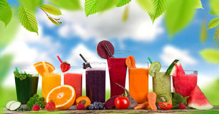Fresh fruit juice, healthy drinks. Royalty Free Stock Images