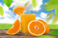 Fresh fruit juice, healthy drinks. Royalty Free Stock Photos