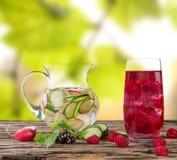 Fresh fruit juice, healthy drinks. Royalty Free Stock Photos