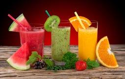 Fresh fruit juice, healthy drinks. Stock Images