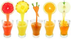 Fresh fruit juices Stock Photography