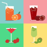 Fresh fruit juices Royalty Free Stock Image