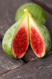 Fresh fruit - juicy green organic fig Royalty Free Stock Image