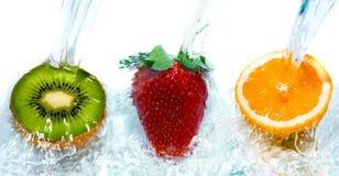 Fresh fruit jumping Royalty Free Stock Images