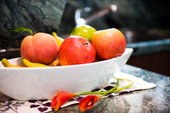 Fresh fruit at the kitchen Royalty Free Stock Images
