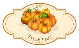 A fresh fruit label with squash Stock Photo