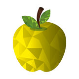 Fresh fruit low poly style Royalty Free Stock Photos