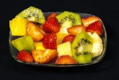 Fresh fruit macedonia cut into cubes Royalty Free Stock Photo