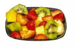 Fresh fruit macedonia cut into cubes Royalty Free Stock Photo