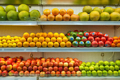 Fresh Fruit in Market Royalty Free Stock Photos