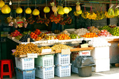 Fresh fruit at the market Royalty Free Stock Photos