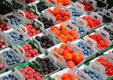 Fresh fruit on a market in France Royalty Free Stock Photos