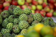 Fresh fruit market in India Stock Image