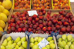 Fresh fruit in the market. Fresh organic fruit in nthe market Royalty Free Stock Photo