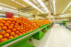 Fresh fruit market section Stock Photos