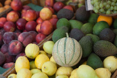 Fresh fruit on market stall Royalty Free Stock Image