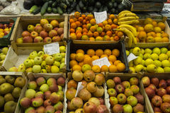 Fresh fruit on a market stall stock image