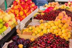 Fresh fruit at a market stall Stock Photos
