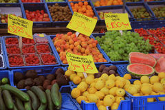 Fresh fruit on a market stall Royalty Free Stock Photography