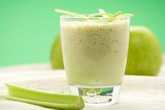 Fresh fruit milk shake apple Stock Photos