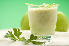 Fresh fruit milk shake apple Royalty Free Stock Image