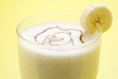 Fresh fruit milk shake banana and caramel Stock Image
