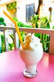 Fresh fruit milk shake coconut Royalty Free Stock Image