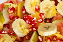 Fresh fruit mix salad Royalty Free Stock Image