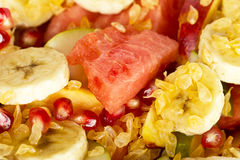 Fresh fruit mix salad Stock Image