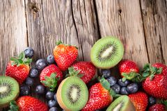 Fresh fruit mix Royalty Free Stock Photo